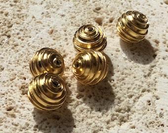 Bali Gold Vermeil Round Bead
