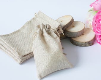 Rustic Wedding Linen Favor Bags Gift Bags Favor Bag Wedding Ivory linen bridal Shower Gift Bags Bachelorette Bags favor keepsake