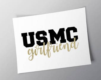 Marine Corps Marine Girlfriend Wife Fiancée Fiance Marine Wife Sticker Marine Girlfriend Sticker Marine Fiancee Sticker
