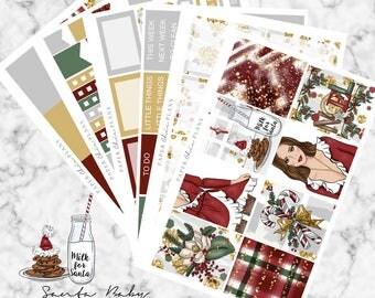 Santa Baby | Planner Sticker Kit MATTE | Erin Condren Vertical Weekly Planner Kit