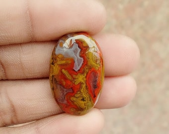 Warm sell 27.5 ct Morocco Agate Natural Gemstone Super Quality AAA+++  Cabochon , Smooth, Oval Shape, 28 x 18 x 6 mm Size, AM 327