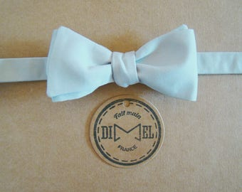 Bow tie adjustable light grey to order