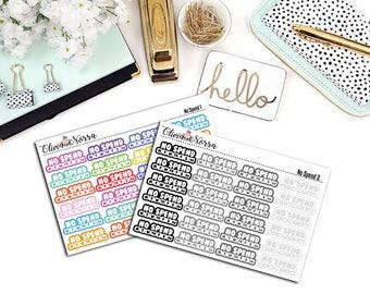 No Spend Planner Stickers