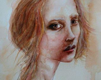 A4 Limited Edition Print of original watercolour painting 'Renaissance'