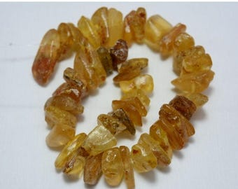 ON SALE 50% Natural Amber tumble shape, Copal Amber Chips, Amber Nuggets, 12 Inches Strand, Gemstone for Jewelry, Amber Necklace