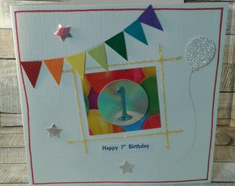 SALE / CLEARANCE / REDUCED / age 1 birthday card / age Cards / 1st birthday