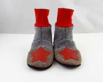 Felted Babyboots,felted bootees,babyshoes,slipper socks,warm toes,cozy babyshoes,babyslipper, Baby Wool Felt Shoes,high topped shoes,wool