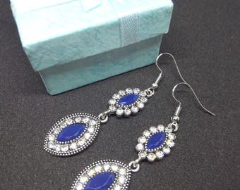 Vintage Earrings with Swarovski stones