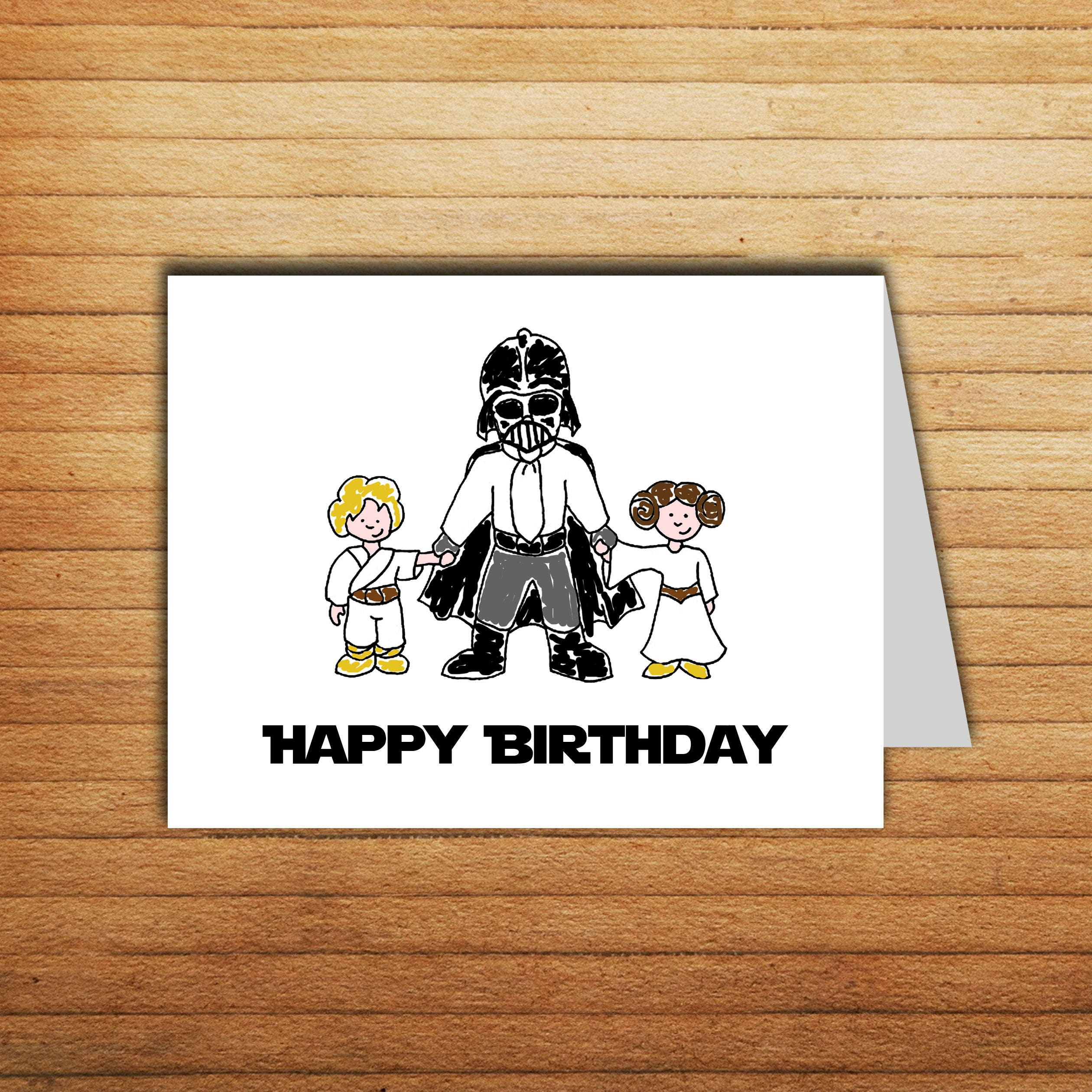 Star Wars Birthday card Darth Vader card Printable Happy