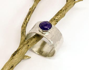Sodalite Sterling Silver Ring Handmade