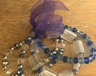 Set of 4 Blue Bracelets