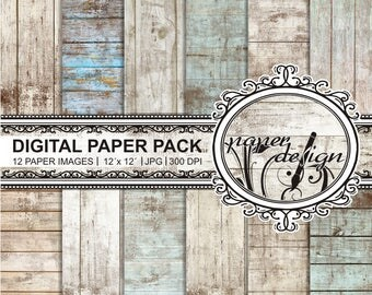 35% off 4 days sale Shabby chic digital paper vintage rustic wood wood grain paper wood textures printable background Scrapbook #06