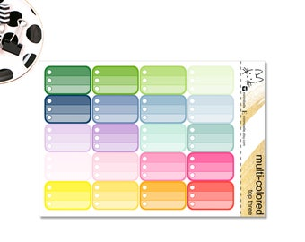 Today's Top Three! Ombre Pattern Half Box Sticker! Perfect for the Erin Condren Life Planner!