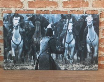 Game of Thrones inspired Battle canvas wall art