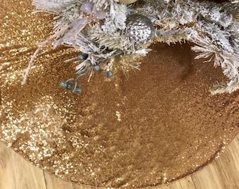 sequin tree skirt tree skirt christmas tree skirt gold sequence tree skirt - Gold Christmas Tree Skirt