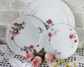 3 tier serving tray dessert stand with rose china cake or serving stand tea