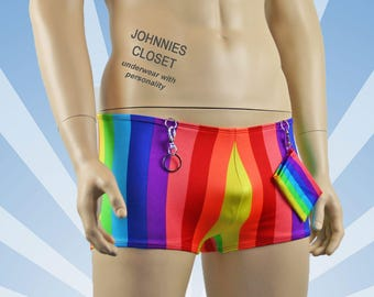 Mens Rainbow Clown Hot Shorts with Accessories