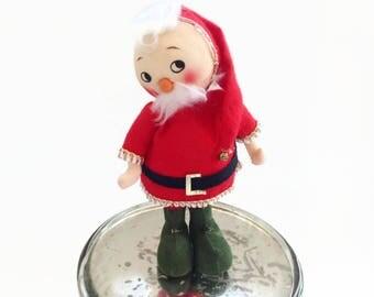 Vintage Santa Elf - 1950's Christmas Decoration - Santa Elf - 1950 Felt Elf - Vintage Craft Decor - Craft Supply - Vintage Wreath