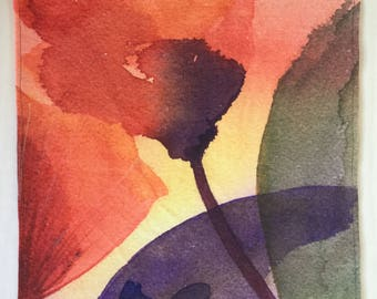 Linen Panel. Placemat. Conovaccio. Watercolor