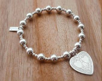 Sterling Silver Bead Bracelet, Stacking Bracelet, Silver Bead Bracelet, Bead Bracelet, Sterling Bracelet, Gift For Her, Alexia Jewellery