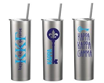 Kappa Kappa Gamma Stainless Steel Tumbler- 20oz tumbler