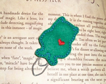 Wild Thing Love Monster - Green- Paper Clip - Felt Planner Clip - Planner Accessory - Stationery - Cute Paper Clip - Bookmark - Planner Clip