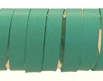 Baby Blue Lambskin Strip 10mm / Light Blue Leather Strips