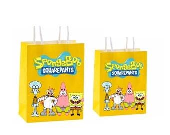 Spongebob Sqaurepants Party Favor Bag ~instant download