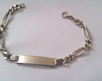 vintage silver 925 ID bracelet