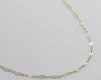 Dainty Lace Chain Necklace / Chain Necklace in Gold Fill and Sterling Silver