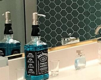 FAST SHIPPING Large Jack Daniels Whiskey Soap Dispenser / Pump Bottle / Father Dad Boyfriend Gift / Whiskey Gift / Jack Daniels Decor