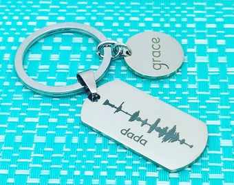 Engraved Sound Wave, Personalized Gift for Him, Christmas Gift For Husband, Dad, Soundwave Jewelry, Engraved Gift, New Baby Gift, First Word