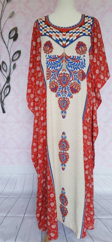 Red floral Bohemian Kaftans Summer Dress Beach Coverup Gypsy dress Boho dress Plus size dress Maxi Dress Beach dress Hippie Long Kaftans
