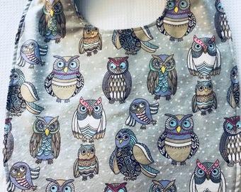 Owl bib, adult bib, special needs bib,