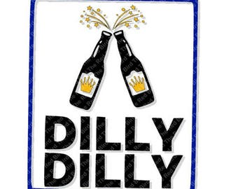Dilly Dilly Crown Beer Bud funny printable Digital download cut file  SVG, DXF, PNG, EpS, PdF