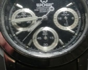 Very rare vintage WOWI gents chronograph tachymeter watch