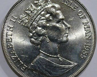 1985 Isle Of Man One Crown - The Queen Mothers 85th Birthday - UNC