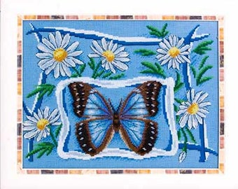 Counted Cross Stitch Kit Chamomile Summer (butterfly) B-0682