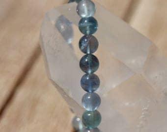 fluorite or blue fluorite bracelet