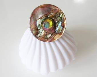 mother of Pearl button ring