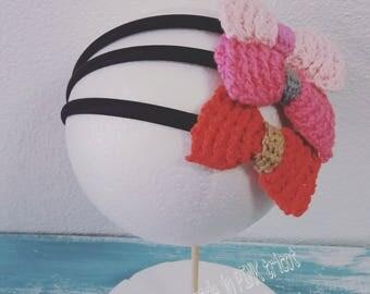 Bow Headband (Crochet Handmade)