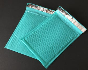 50 6x9 LIGHT TEAL Bubble Mailers Size 0 Self Sealing Shipping Envelopes Spring Easter
