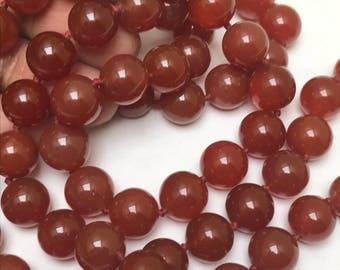 Carnelian Gemstones  Beaded Necklace .