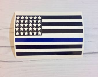 Blue Thin Line flag - vinyl decal