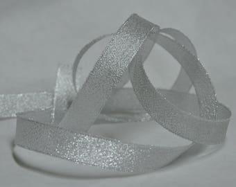 19mm shiny silver fantasy Ribbon