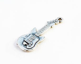 BP53 - 3 model guitar violin music Instrument Orchestra silver pendant charm / 3 Style Silver Music Guitar Violin Orchestra during