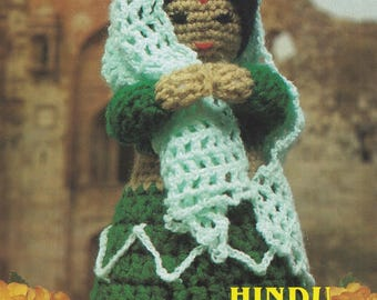 Hindu Princess, Annie's Attic Crochet Dolls of the World  Pattern Booklet 87L03