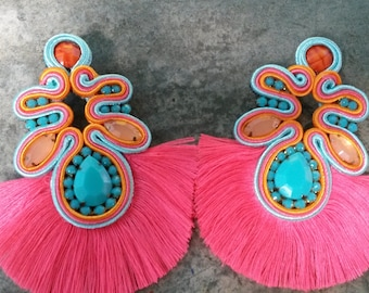 Earrings Soutache design My Kmi