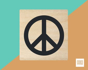 Peace - 3cm Rubber Stamp (DODRS0079)