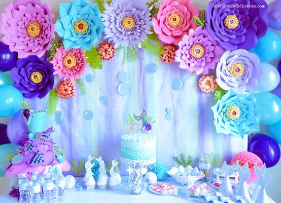 Set of 5 giant paper flower templates large diy backdrop flowers il570xn mightylinksfo